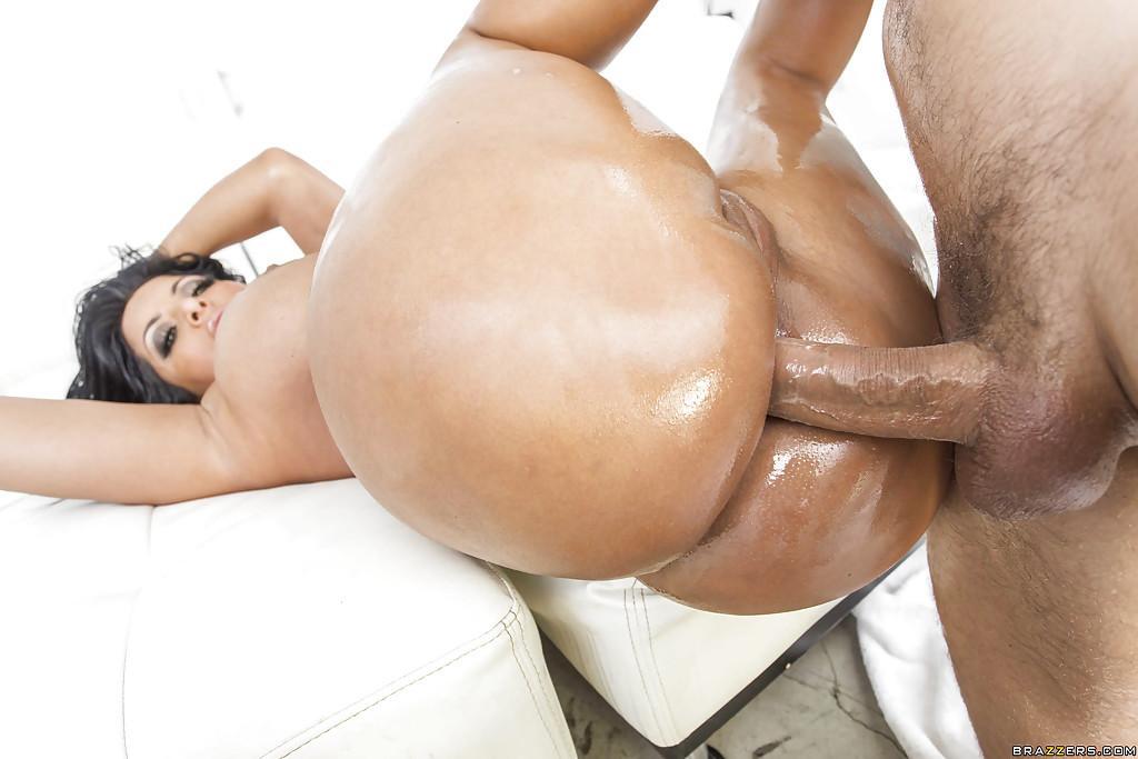 Жопа масло хуй в жопе порно